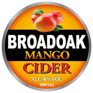 Broadoak cider - Mango 4% 20 litre bag in box