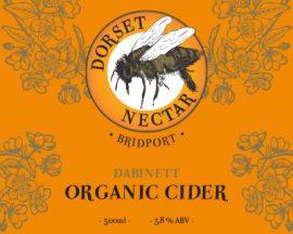 Dorset Nectar Organic cider - Dabinett 5.5% 20 litre bag in box