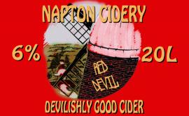 Napton Cider - Red Devil 7% 20 litre bag in box