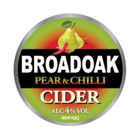 Broadoak Cider - Pear and Chilli 4% 20 litre bag in box