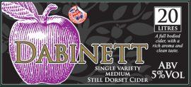 Purbeck cider - Dorset Dabinett 5% 20 Litre Bag in Box