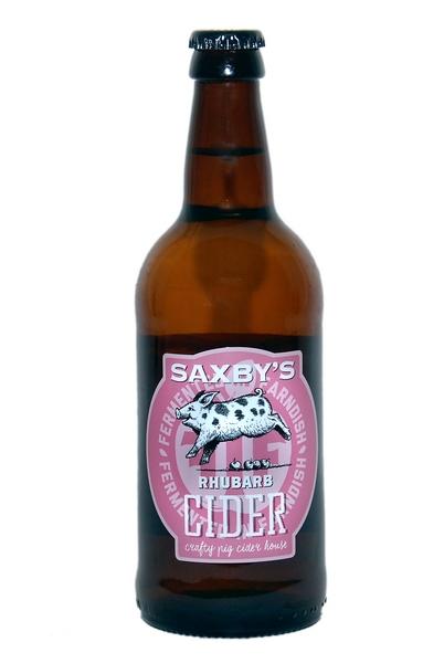 Saxbys Cider – Cloudy Rhubarb Cider 3.5% 12 x 500ml bottles