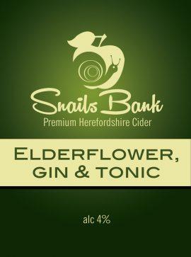 Snails Bank - Elderflower G&T 4% 20 litre bag in box