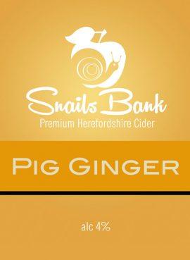 Snails Bank - Pig Ginger 4.0% 20 litre bag in box