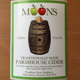 Moons Cider - Farmhouse 6.0% 20 litre bag in box