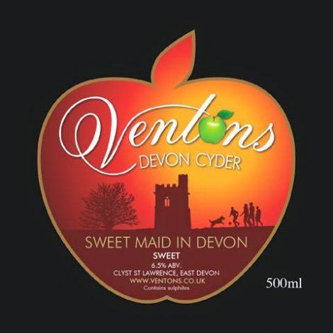 Ventons - Sweet Maid in Devon 6.0% 20 litre Bag in Box