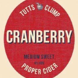 Tutts Clump cider - Cranberry 4% 20 litre bag in box
